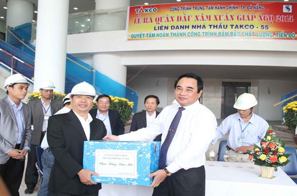 Boom hit the head of the year at the Da Nang City Administrative Center