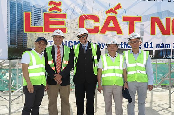 Topping-out ceremony of the HCM International School project